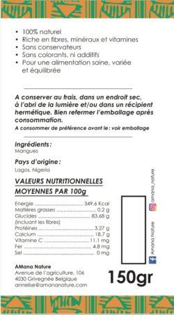 Verso - Packaging Mangues séchées